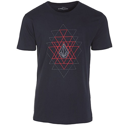 Volcom - Maglietta maniche corte - Uomo - a3531553, Uomo, T-shirt, ABSENT SS, Blue - Bleu (Navy), Small (Taille fabricant: S)