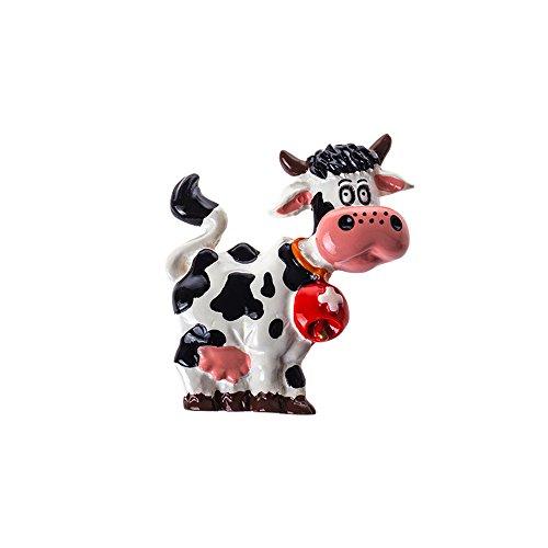 Magnet Kuh mit Glocke in rot - Kühlschrankmagnet Kuh 3D - 4 cm x 4 - Kuh-magnet