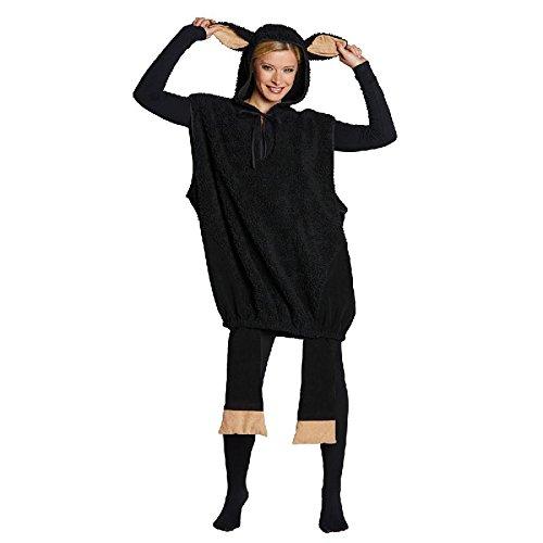 Unisex Kostüm schwarzes Schaf zu Karneval Fasching (Erwachsene Schwarzes Für Schaf Kostüm)