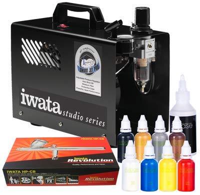 Iwata Professional Airbrushing Body Art Kit mit Smart Jet Pro Kompressor -