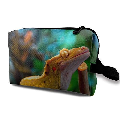 Reise-Kosmetiktaschen-Baum-Gecko-Reise-tragbare Make-upbeutel-Reißverschluss-Geldbörsen-Hangbag-Minimake-upbeutel One Xl Carry Case