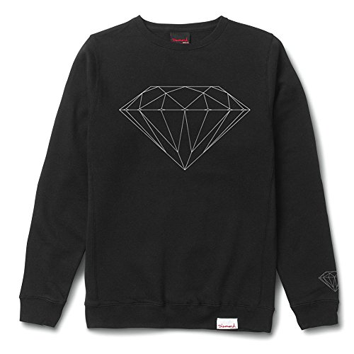 Diamond Supply Co. Men's Brilliant Crewneck Sweatshirt Black 2XL