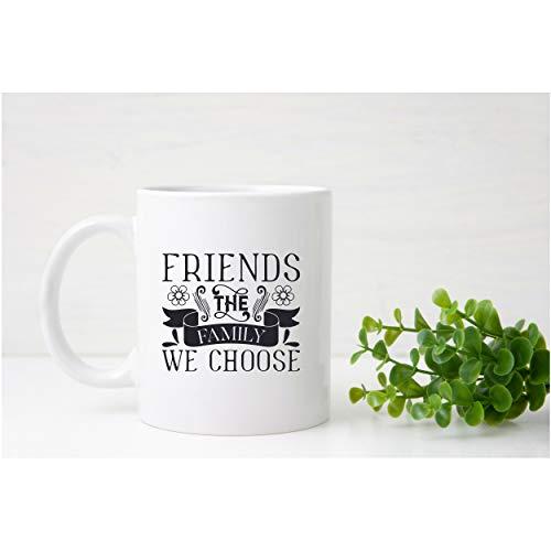 ZonaloDutt Freunde die Familie, die wir w?hlen Kaffeetasse Mom Becher Mom Cup Beste Freund Becher Geschenk f¨¹r ihre Mutter Geschenk Ideen Mothers Day Bridal Party Becher
