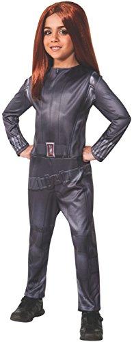 Kostüm Schwarze Witwe Captain America: The Winter Soldier Mädchen (Captain America Classic Kind Kostüm)