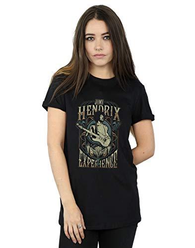 Jimi Hendrix Damen Nouveau Experience Boyfriend Fit T-Shirt Schwarz Large -