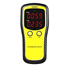 Carrfan formaldehyde CO2 HCHO TVOC LED digitale display meter tester mini kooldioxide luchtdetector gasanalysator professionele luchtkwaliteit tester nauwkeurige en intelligente herkenning