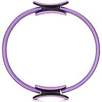 Zhuhaimei,Aptitud Pilates Yoga Circle Magic Circle Antideslizante Adecuado para ejercitar los músculos Abdominales y los Muslos(Color:PÚRPURA)