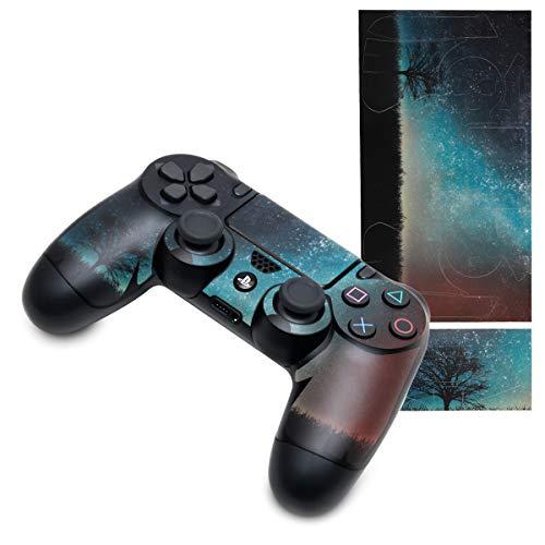 kwmobile Set Adesivi per Playstation Controller 4 / PS 4 Pro (1./2. Gen) - Decalcomanie Skin Adesive per Controller in vinile - Stampe Sticker PS4 - blu / grigio / nero