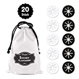 Premium Sockenklammern für Waschmaschine und Trockner - 20er Set | inkl. hochwertiger Baumwolltasche- Socken-Clips in Schwarz und Weiß aus Silikon