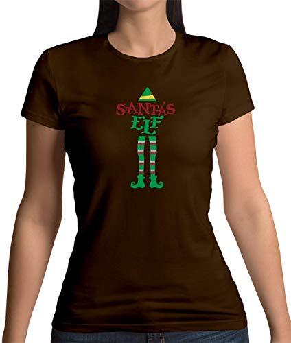 Weihnachtself - Damen T-Shirt - Dunkles Schokobraun