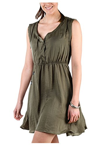 Fresh Made Women's Women's Khaki Dress 100% Polyester Green