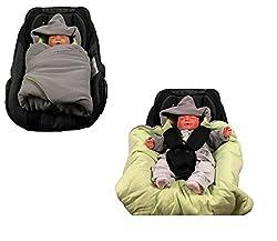 Einschlagdecke für die Babyschale Fußsack für kalte Tage in verschiedenen Farben von HOBEA-Germany, Farben Winterdecken:grau grün