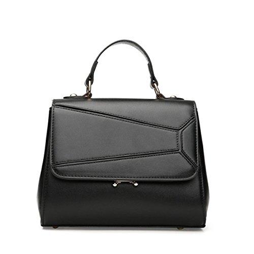 Frauen PU-Leder Mode Große Kapazität Anti-Diebstahl Einzelne Schulter-Umhängetasche Tasche Black