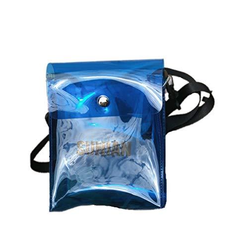 Damen Herren Transparente Handtasche Mode Hip-Hop Umhängetasche Mädchen Geldbörse Brieftasche Wasserdicht Handytasche Shopper Tasche Reisen Shoulder Messenger Bag Elegante Henkeltasche