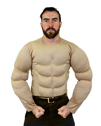 Body Kostüm Muskel - ILOVEFANCYDRESS BRUST MUSKEL KOSTÜM IN BEIGE UND 2 VERSCHIEDENEN GRÖßEN SUPER FÜR JEDE SUPERHELDEN VERKLEIDUNG ODER WRESTLER KOSTÜM= IN DER FARBE BEIGE & GRÖßE XLARGE
