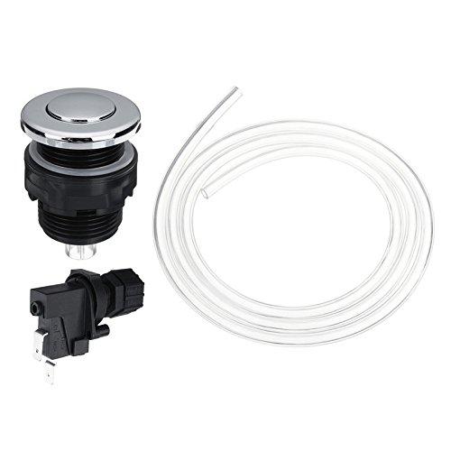 Luft-schlauch-schalter (GOZAR 25V-250V Wannen Schalter Pneumatische Luft Knopf Kit Müllentsorgung Müllentsorger Luftschalter Kit - 34Mm)