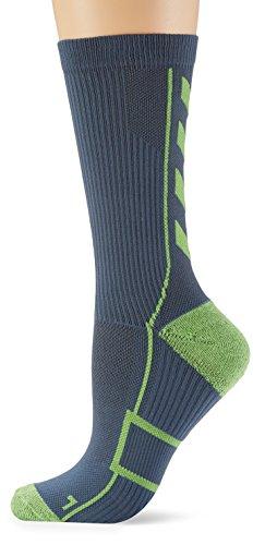 Hummel Calzini corti mod. Tech Indoor Socks Low Grigio Dark Slate/Green Flash 14