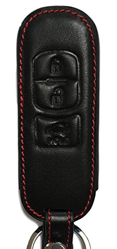 Preisvergleich Produktbild Schlüsseltasche – Echt-Leder für MX5 ab 2016 2 3 5 6 MPS CX-3 CX-7 RX-8 BT50 CX-5 CX-9 - Etui Hülle Autoschlüssel