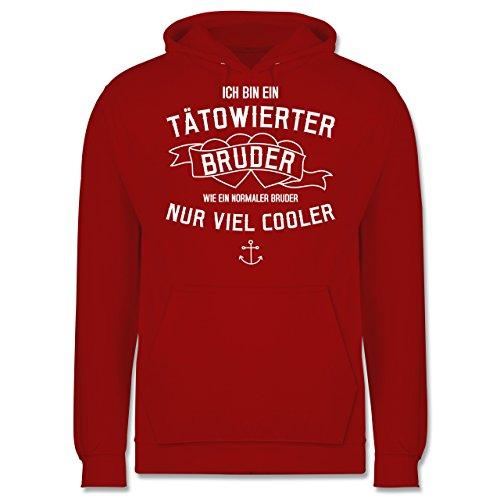 Bruder & Onkel - Ich bin ein tätowierter Bruder - Männer Premium Kapuzenpullover / Hoodie Rot