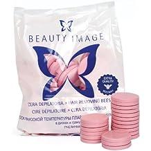 Beauty image - Cera depilatoria caliente, 1 kilo, color rosa