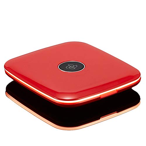 Dingmart-Polarisation Dimmen Runde LED-Licht füllen Licht tragbare High-Definition Kosmetikspiegel tragbare Tageslicht LED Reise Kosmetikspiegel