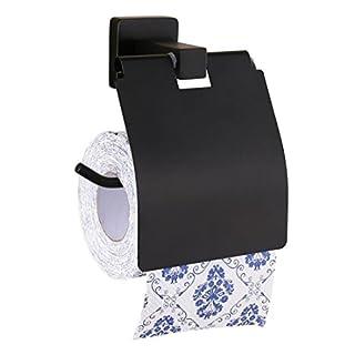SPOLY Europäische Schwarze Toilettenpapierhalter Wand-Badezimmer-Zubehör-Gewebe-Speicher-Organisation Rollen-Gewebe-Halter-Edelstahl-Rollen-Zufuhr-Papierhandtuch-Halter
