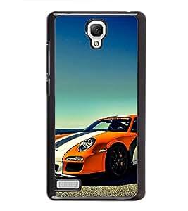 Fuson Premium 2D Back Case Cover Stylish car near beach With Orange Background Degined For Xiaomi Redmi Note::Xiaomi Redmi Note 4G