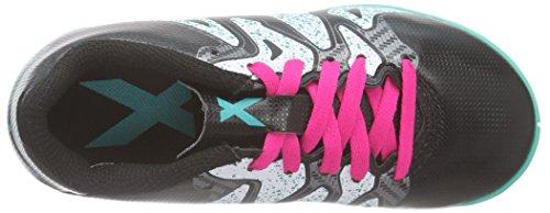 adidas X 15.4 In, Scarpe da Calcio Unisex – Bambini Multicolore (Core Black/Shock Mint/Ftwr White)
