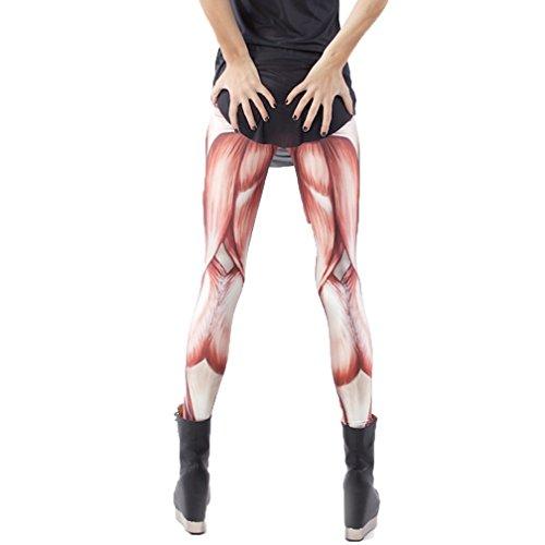 MONIKEEN Fashion Dehnbar Leggings Skinny Leggins für Damen Einheitsgrösse 1106-1