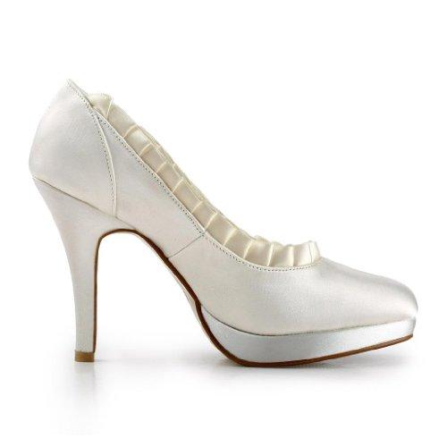 Jia Jia Wedding 3703H chaussures de mariée mariage Escarpins pour femme Beige