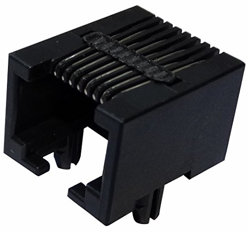 Aerzetix: 5x Ethernet-Netzwerk RJ45-Steckverbinder Buchse 8pin 8p8c Löten THT