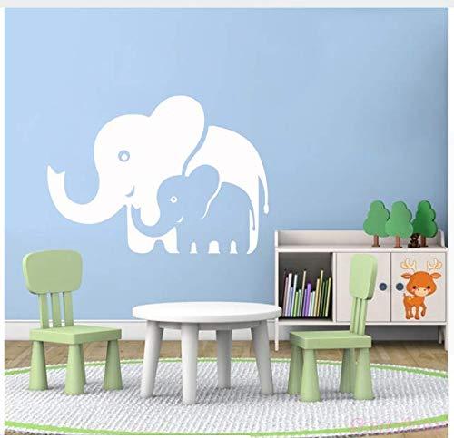 Pegatinas de Pared Mamá y Bebé Elefantes de Vinilo Arte Mural Calcomanía...