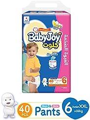 Babyjoy Cullotte Pants Diaper, Mega Pack Junior XXL Size 6, Count 40, 16+ KG