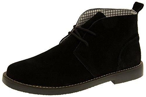 Northwest Territory Mens Black Leather Desert Boots UK 10