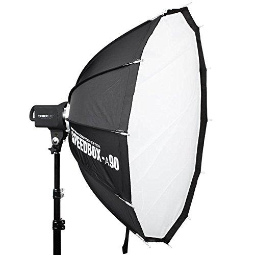 SMDV Speedbox-90 Dodecagon-Softbox für Studioblitz 90 cm zwölfeckig - erfordert separat erhältlichen Adapter für Bowens S-Mount, Elinchrom, Profoto, Broncolor, Multiblitz P-Mount oder Hensel und Richter!