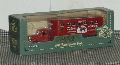 ertl-anheuser-busch-1941-tractor-trailer-bank-143-scale-die-cast-metal-locking-coin-bank-by-unknown