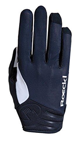 Roeckl mileo bicicleta guantes de largo Negro/Blanco 2017, 9.5