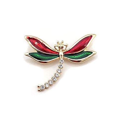 Vent couleur libellule broche en Europe et en Amérique/ simple broche décorative entomologie-A