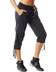 Zumba Fitness Z1B00285-S-SWBL - Pantalones de fitness y ejercicio para mujer, color negro, talla S