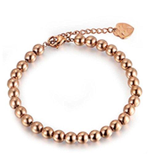 findout-Damen-14K-Rosgold-vergoldet-Titan-Stahl-4-mm-Perlen-Armbnder-fr-Frauen-Mdchen-F1386