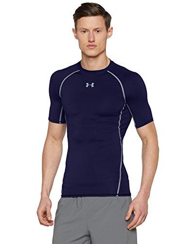 Foto de Under Armour Armour Hg Ss T, Camiseta de manga corta Para Hombre, Azul Marino (Midnight Navy), M