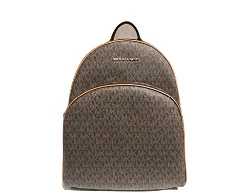 MICHAEL Michael Kors Abbey Jet Set Large Leather Backpack (Black 2018)
