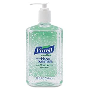 Wholesale CASE of 20 - GOJO PURELL Instant Hand Sanitizer w/ Aloe-Hand Sanitizer, w/ Aloe, Pump Bottle, 12 oz. by GOJ