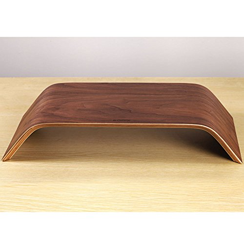 SAMDI Universal Desktop Computer Monitor Heighten Wooden Stand Dock Holder Display Bracket for iMac PC Notebook Laptop