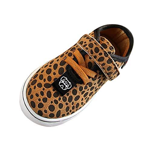 EHMOG Verano Nuevo Zapatillas Deportivas Antideslizantes Suaves Antideslizantes para Bebés, Niñas y Niños, con Estampado de Leopardo