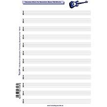 Tabulatur-Block für Bassisten - Bass-TAB-Block für eigene Notation in Tabulatur - für 4-Saiter-Bässe
