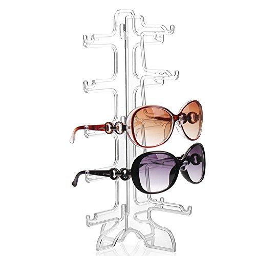 Perfectii Sonnenbrillen Rack, Brillenregal Brillenständer Brillenhalter 5 Schichten Gläser Brillenablage Halter
