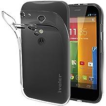 Motorola Moto G 2013 Edition (1st Gen/ G1) Funda, iVoler TPU Silicona Case Cover Dura Parachoques Carcasa Funda Bumper para Motorola Moto G 2013 Edition (1st Gen/ G1), [Ultra-delgado] [Shock-Absorción] [Anti-Arañazos] [Transparente]- Garantía Incondicional de 18 Meses