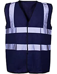 Hi VIS coloured Vest Waistcoats Vests - Yellow Orange Pink Green Navy