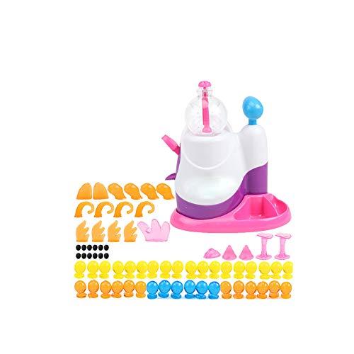 Netter Aufblasbare Ballmaschine Kreative Handarbeit DIY Zusammengebautes Spielzeug Blasen Tier Wellen-Kugel Stress Relief Spielzeug Aufblasbaren Ball Spielzeug English 1 Set -